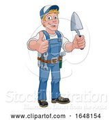 Vector Illustration of Trowel Construction Site Builder Handyman by AtStockIllustration