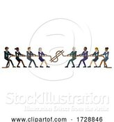 Vector Illustration of Tug of War Rope Pulling Business People Concept by AtStockIllustration