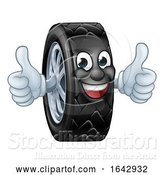 Vector Illustration of Tyre Car Mechanic Service Mascot by AtStockIllustration