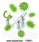 Vector Illustration of Vaccine Syringe Virus Vaccination Medical Concept by AtStockIllustration