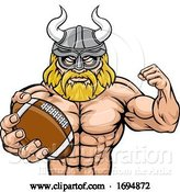 Vector Illustration of Viking American Football Sports Mascot by AtStockIllustration