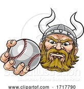 Vector Illustration of Viking Baseball Ball Sports Mascot by AtStockIllustration
