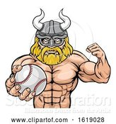 Vector Illustration of Viking Baseball Sports Mascot by AtStockIllustration