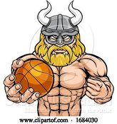 Vector Illustration of Viking Basketball Sports Mascot by AtStockIllustration