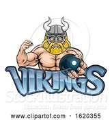 Vector Illustration of Viking Bowling Sports Mascot by AtStockIllustration