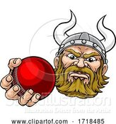 Vector Illustration of Viking Cricket Ball Sports Mascot by AtStockIllustration