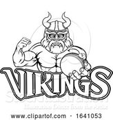Vector Illustration of Viking Cricket Sports Mascot by AtStockIllustration