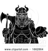 Vector Illustration of Viking Female Gladiator Baseball Warrior Lady by AtStockIllustration