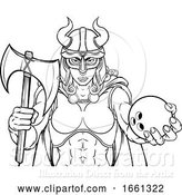 Vector Illustration of Viking Female Gladiator Bowling Warrior Lady by AtStockIllustration