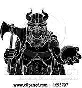 Vector Illustration of Viking Female Gladiator Cricket Warrior Lady by AtStockIllustration