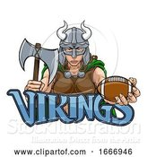 Vector Illustration of Viking Female Gladiator Football Warrior Lady by AtStockIllustration