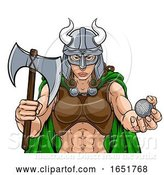 Vector Illustration of Viking Female Gladiator Golf Warrior Lady by AtStockIllustration