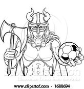 Vector Illustration of Viking Female Gladiator Soccer Warrior Lady by AtStockIllustration