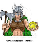 Vector Illustration of Viking Female Gladiator Tennis Warrior Lady by AtStockIllustration