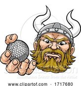 Vector Illustration of Viking Golf Ball Sports Mascot by AtStockIllustration