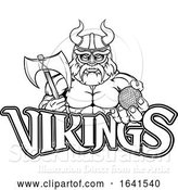Vector Illustration of Viking Golf Sports Mascot by AtStockIllustration