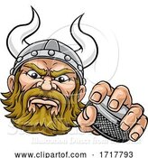 Vector Illustration of Viking Ice Hockey Sports Mascot by AtStockIllustration