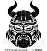 Vector Illustration of Viking Mascot by AtStockIllustration