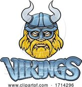 Vector Illustration of Viking Mascot Warrior Sign Graphic by AtStockIllustration