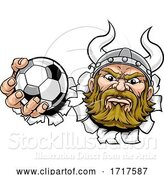 Vector Illustration of Viking Soccer Football Ball Sports Mascot by AtStockIllustration