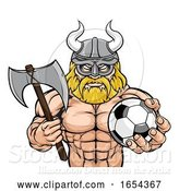 Vector Illustration of Viking Soccer Football Sports Mascot by AtStockIllustration