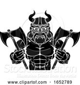 Vector Illustration of Viking Sports Mascot by AtStockIllustration