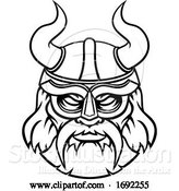 Vector Illustration of Viking Sports Mascot Character by AtStockIllustration