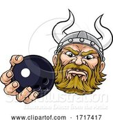 Vector Illustration of Viking Ten Pin Bowling Ball Sports Mascot by AtStockIllustration