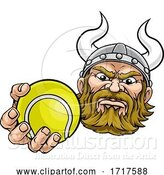 Vector Illustration of Viking Tennis Ball Sports Mascot by AtStockIllustration