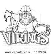 Vector Illustration of Viking Trojan Celtic Knight Football Warrior Lady by AtStockIllustration