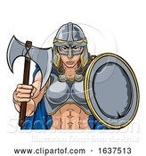 Vector Illustration of Viking Trojan Spartan Celtic Warrior Knight Lady by AtStockIllustration