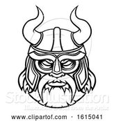 Vector Illustration of Viking Warrior Sports Mascot Character by AtStockIllustration