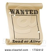 Vector Illustration of Wanted Poster Background Sign by AtStockIllustration