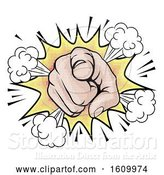 Vector Illustration of Wants You Pop Art Pointing Hand by AtStockIllustration
