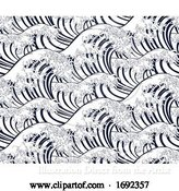 Vector Illustration of Wave Japanese Repeating Engraved Background by AtStockIllustration