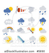 Vector Illustration of Weather Icons by AtStockIllustration