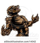 Vector Illustration of Werewolf Beast Howling and Transforming by AtStockIllustration