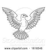 Vector Illustration of White Dove Concept by AtStockIllustration
