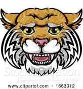 Vector Illustration of Wildcat Mascot Cute Happy Character by AtStockIllustration