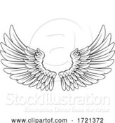 Vector Illustration of Wings Angel or Eagle Feathers Pair Illustration by AtStockIllustration