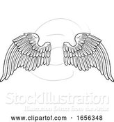 Vector Illustration of Wings Angel or Eagle Pair by AtStockIllustration