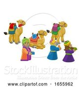 Vector Illustration of Wise Men Christmas Nativity Scene by AtStockIllustration