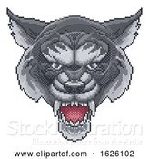 Vector Illustration of Wolf Pixel Art Arcade Game Mascot by AtStockIllustration