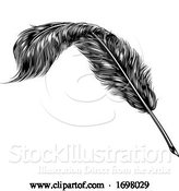 Vector Illustration of Writing Quill Feather Ink Pen by AtStockIllustration