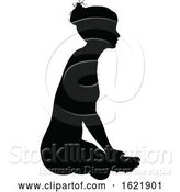 Vector Illustration of Yoga Pilates Pose Lady Silhouette by AtStockIllustration
