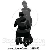 Vector Illustration of Young Couple People Silhouette by AtStockIllustration