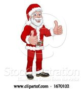 Vector Illustration of Young Handsome Santa Thumbs up Christmas by AtStockIllustration