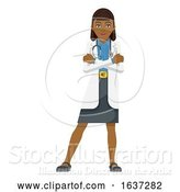 Vector Illustration of Young Lady Medical Doctor Mascot by AtStockIllustration
