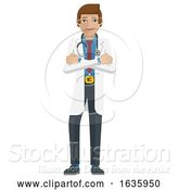Vector Illustration of Young Medical Doctor Mascot by AtStockIllustration