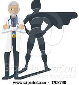 Vector Illustration of Young Medical Doctor Super Hero Mascot by AtStockIllustration